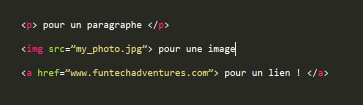 balises HTML <p> <img loading=